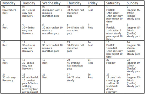 sample training schedule tri4fitness